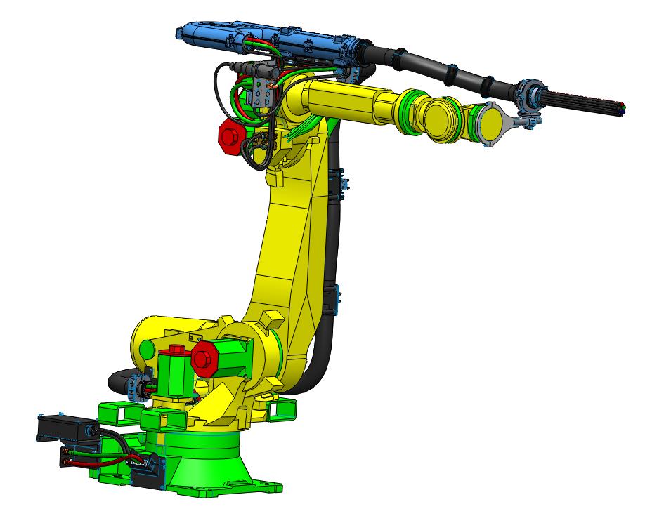 FANUC焊接机器人收线盒方案